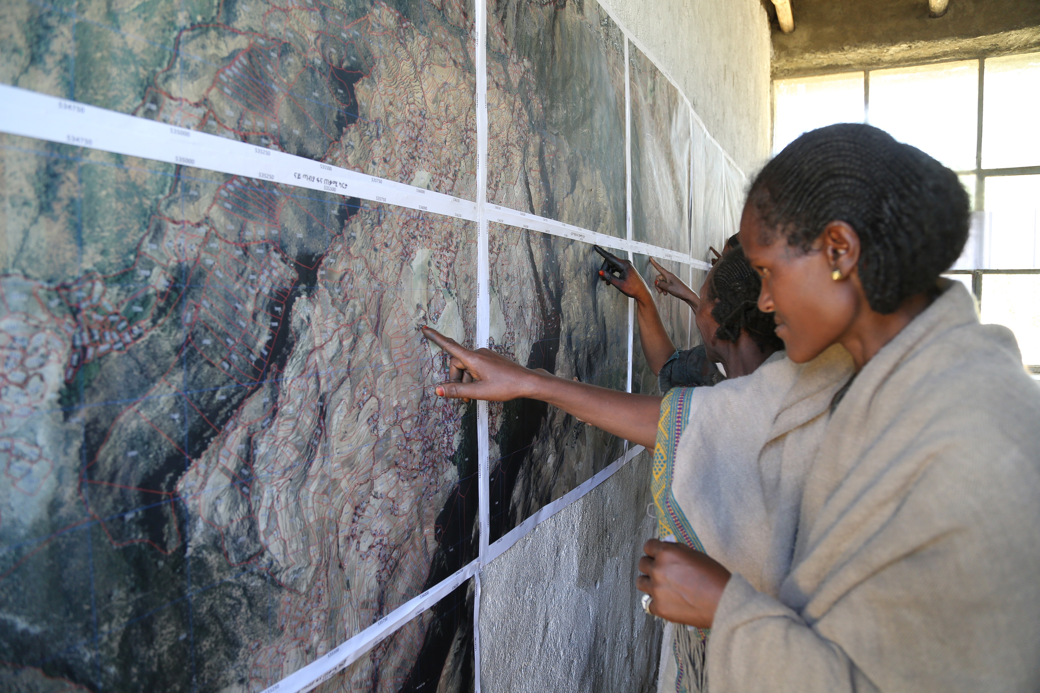A Woman Farmer  Referring  to  Spatial Data, Emba Alaje, Tigray.JPG