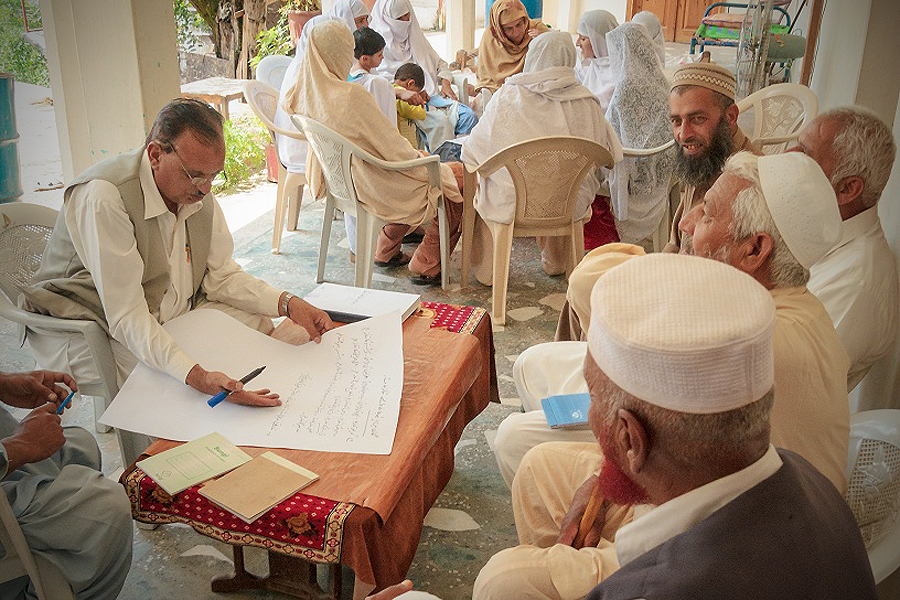 Group planning session in Pakistan